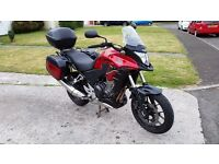 Honda CB500X 2015. A2 licence. Low mileage and extras.