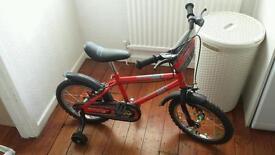 "Kids 16"" wheel bike"