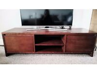 Tv unit dark mango wood