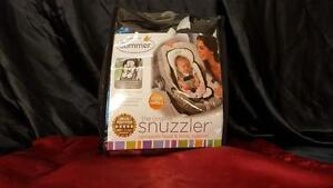 Summer Infant Snuzzler Infant Support for Car Seats and Strollers, Black Velboa