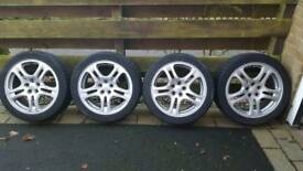 "Subaru 17"" wheels with Toyo tyres"