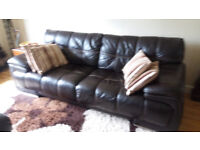 ####LEEKES LARGE BROWN LEATHER SOFA ######NOW SOLD SOLD SOLD