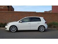 "Volkswagen Golf 2.0 GT TDI (140) + 2010/60 + FACTORY CANDY WHITE + 18"" VANCOUVER WHEELS + FSH +"