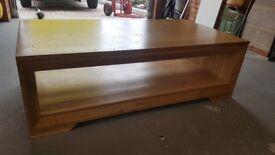 Solid Oak Coffe Table, L130cm W70cm H41cm