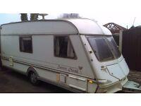 1995 abi herald superme 4 berth touring caravan with full awning