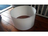 Very large white Ikea lampshade ceiling light