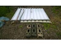 Solid panel site security Heras fencing