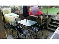8 piece garden table set