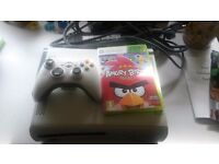 Xbox 360 console,controller & Angry Birds game