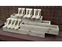 GARDEN FLOWER PLANTERS,LARGE SELECTION, SALE, MUST SEE!!! WOODEN FLOWER BOXES