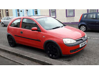 Red Vauxhall Corsa 1.0 51 Plate, 3 Door has Vauxhall branded black alloys