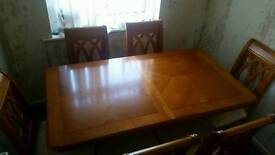 ***REDUCED*** Solid wood extending dining room table