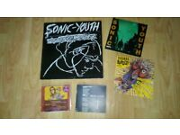 "5 x sonic youth - confusion is sex LP - 100% 7"" / cd singles"