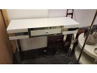 white mirror console table