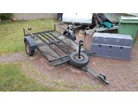 Quad bike motocross tip trailer