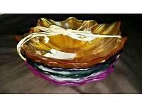 new glass flower bowl
