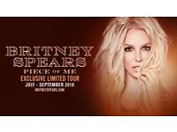 Britney Spears Piece Of Me Concert Ticket Blackpool