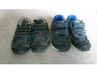 Clarks boys shoes and trainers, size 8.5 & 9 F
