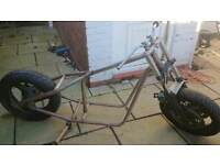 Hardtail chopper bobber project chop frame, rolling chassis.