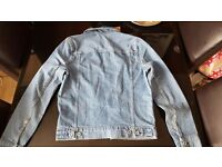 Mens H&M denim jacket size small new with tags