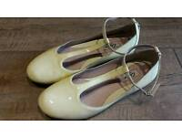 Clarke patent leather flats size 5