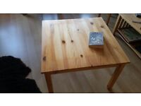 Free small wooden basic coffee table
