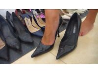 Gorgeous well worn ladies stilettos size 4