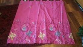 Pink girls curtains from Next