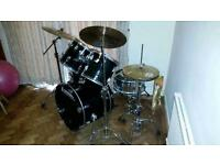 Ludwig rocker 5 piece drum kit