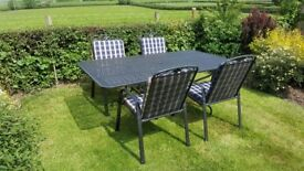 Kettler garden table and 4 chairs with cushions