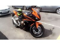 Honda CBR500 R 2016 Orange & Black Motorbike - A2 legal - Like New
