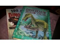 Dinosaur Books. Perfect Condition, Usborne Jigsaw Book and 100 Dino Facts