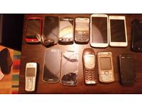 Job lot of mobile phones. Various conditions- for spares x13