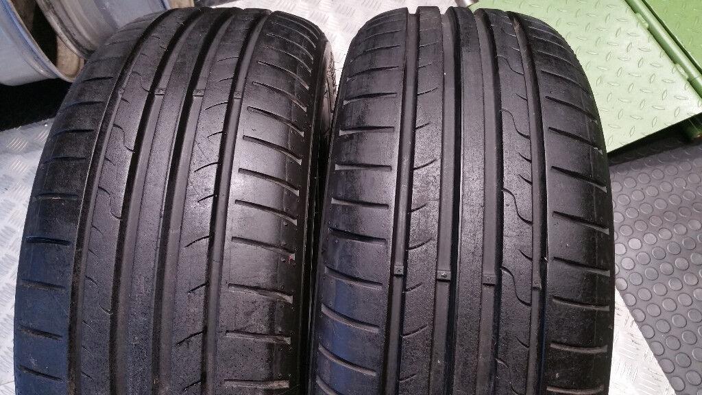 205 55 16 2 x tyres dunlop sport bluresponse in aberdeen. Black Bedroom Furniture Sets. Home Design Ideas