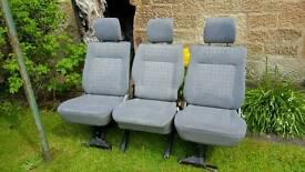 Vw t4 transporter rear seats x 3