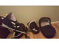 Mamas and Papas Sola Complete Travel System - CAR SEAT - PUSH CHAIR - CARRY COT - VERY GOOD CONDITIO