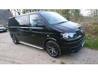 63 VW T5.1 Transporter T30 LWB 140ps 6spd Highline 4Motion Black