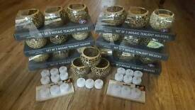Mosaic Tea Light Holders - Wedding Birthday Party Props Decorations