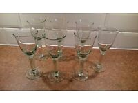 For Sale Recycled Small Tulip green Wine Glasses