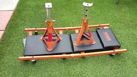 Halford crawling board and axle stands