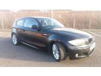 2010 BMW 118d M SPORT 2.0 DIESEL BLACK,FSH,NEW MOT,6 SPEED,CLEAN CAR,CAT D,£30 ROADTAX,GREAT VALUE