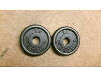 Weight plates 2x 1.25kg