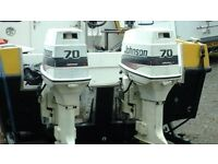 Outboard engine 70hp johnson X2