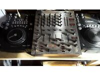 CD Decks and mixer all works but small fault on one deck (DJ DECKS CDJ MUSIC RAVE PA SPEAKERS)