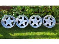 "16'Genuine classic wheels alloys""KESKIN KT1 "" 4X100 all width J9 ET15"