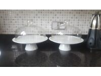 2 X Cake stands & Bowl
