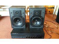 Harman-Kardon HK610 amplifier, KEF C10 speakers