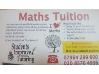 Maths Tuition. 1 to 1 or group Maths lessons available. Hounslow,Heston,Isleworth,Brentford,Osterley