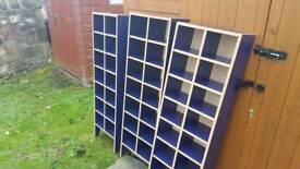 Pigeon hole storage units x3