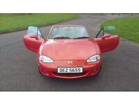 For sale Mazda MX5 orange immaculate condition